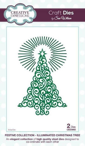 Illuminated Christmas Tree Festive Collection Dies Sue Wilson Creative Expressions CED3002