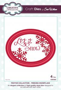 Peeking Snowflake Craft Dies by Sue Wilson Festive Collection CED3022