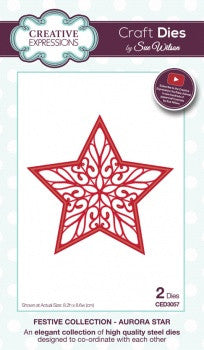 Creative Expressions Craft Dies by Sue Wilson - Festive Collection - Aurora Star