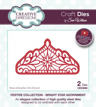 Creative Expressions Craft Dies by Sue Wilson - Festive Collection - Bright Star Adornment