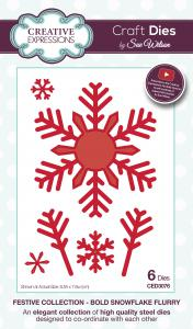 Bold Snowflake Flurry Festive Collection By Sue Wilson Creative Expressions CED3076