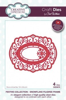 Creative Expressions Craft Dies by Sue Wilson - Festive Collection - Snowflake Filigree Frame