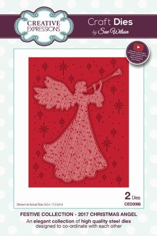 2017 Christmas Angel Festive Collection by Sue Wilson Creative Expressions CED3088