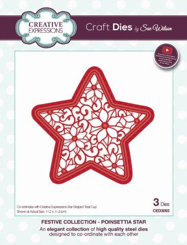 Poinsettia Star Festive Collection By Sue Wilson Creative Expressions CED3093