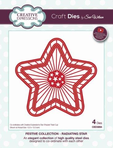 Radiating Star Festive Collection By Sue Wilson Creative Expressions CED3094