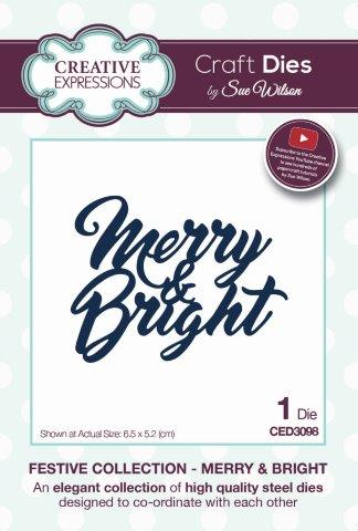 Merry & Bright Festive Collection Creative Expressions Sue Wilson Cutting Die CED3098