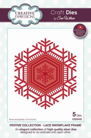 Lace Snowflake Frame Festive Collection By Sue Wilson Creative Expressions CED3123