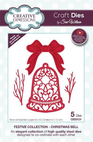 Festive Collection Christmas Bell CED3131 Creative Expressions Sue Wilson Cutting Die