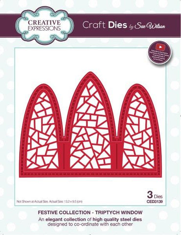 Triptych Window Festive Collection Craft Die Creative Expressions Sue Wilson CED3139