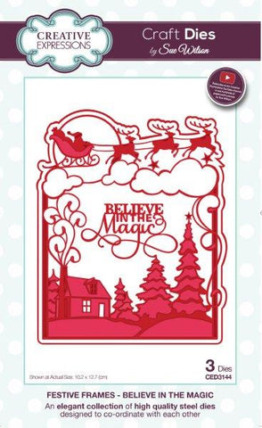 Believe in the Magic Festive Frames Collection Creative Expressions Sue Wilson CED3144