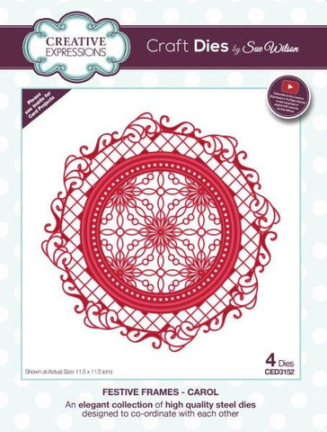 Festive Frame Collection Carol CED3152 Creative Expressions Sue Wilson Cutting Die