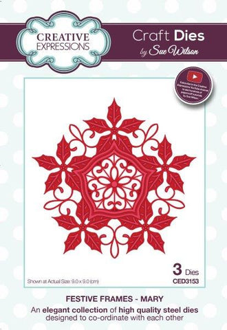 Mary Festive Frame Collection Creative Expressions Sue Wilson Creative Expressions CED3153