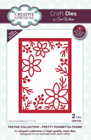 Pretty Poinsettia Frame Creative Expressions Craft Dies by Sue Wilson CED3188