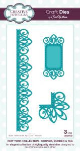 Corner, Border & Tag New York Collection Sue Wilson Creative Expressions CED4102