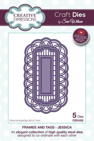 Jessica Frames and Tags Collection Die By Sue Wilson Creative Expressions CED4325