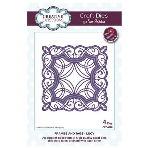 Lucy Frames and Tags Collection Die By Sue Wilson Creative Expressions CED4326