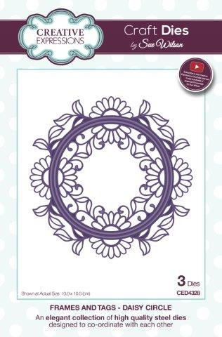 Daisy Circle Frames and Tags Collection Die By Sue Wilson Creative Expressions CED4328