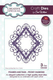 Peony Diamond Frames and Tags By Sue Wilson Creative Expressions CED4329