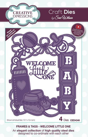 Welcome Little One Die Frames and Tags Collection By Sue Wilson Creative Expressions CED4348