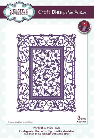 Ava Frames and Tags Collection Die By Sue Wilson Creative Expressions CED4350