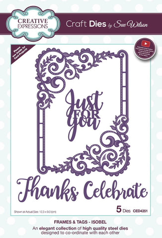 Isobel Die Frames and Tags Collection By Sue Wilson Creative Expressions CED4351