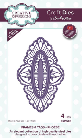 Phoebe Frames and Tags Die Collection By Sue Wilson Creative Expressions CED4353