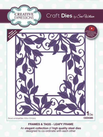 Leafy Frames and Tags Collection Die By Sue Wilson Creative Expressions CED4385