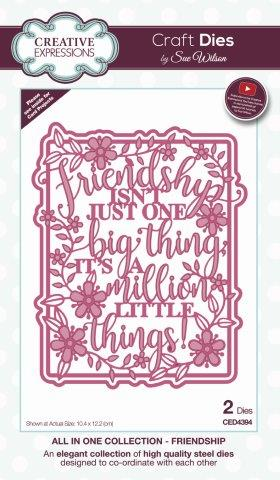 Friendship All In One Collection Die By Sue Wilson Creative Expressions CED4394