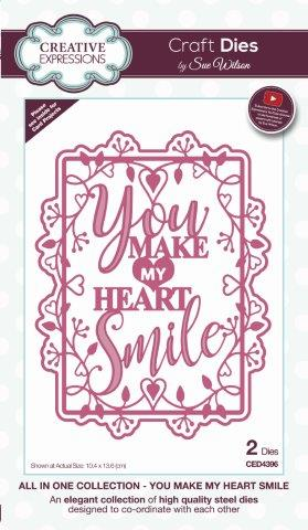 You Make My Heart Smile All In One Collection Die By Sue Wilson Creative Expressions CED4396