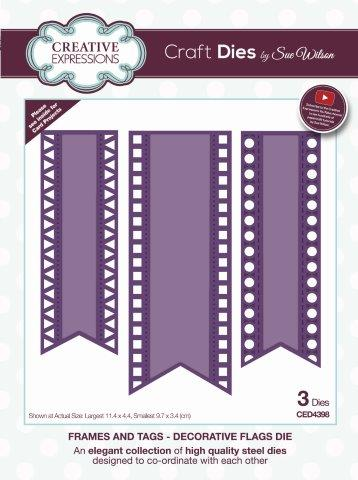 Decorative Flags Die Frames and Tags Sue Wilson Creative Expressions CED4398