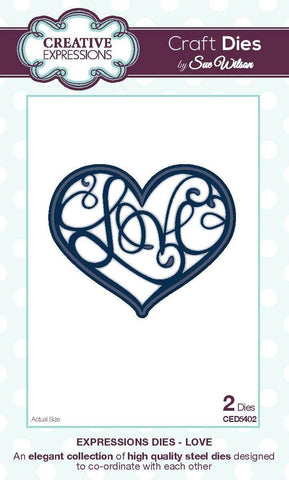 Love Heart Expreessions Dies Creative Expression Sue Wilson CED5402