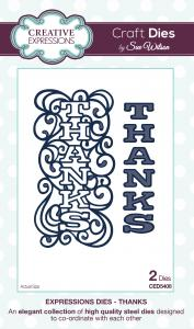 Thanks Craft Die Expressions Dies by Sue Wilson Creative Expressions CED5408