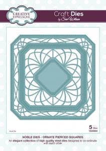 Ornate Pierced Squares Noble Collection Dies By Sue Wilson Creative Expressions CED5504