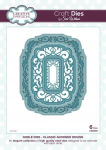 Classic Adorned Design Noble Collection Dies By Sue Wilson Creative Expressions CED5505