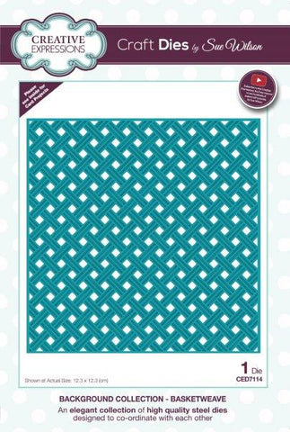 Basketweave Background Collection Die By Sue Wilson Creative Expressions CED7114
