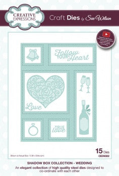 NEW APRIL 2016 Shadow Boxes Collection - Wedding CED9302 By Sue Wilson