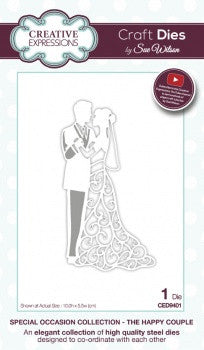 The Happy Couple Special Occasion Collection By Sue Wilson Creative Expressions CED9401