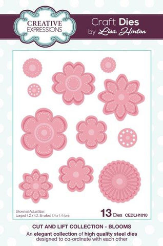 Cut And Lift Collection - Blooms CEDLH1010 - Craft Die By Lisa Horton For Creative Expressions