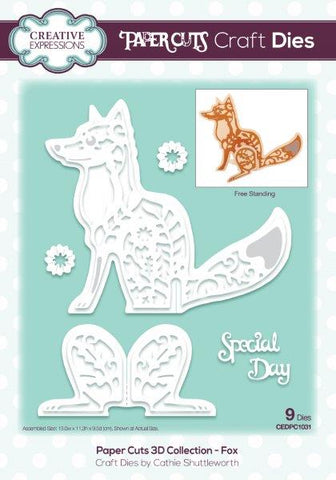 Paper Cuts 3D Collection - Fox CEDPC1031 Craft Die By Cathie Shuttleworth For Creative Expressions