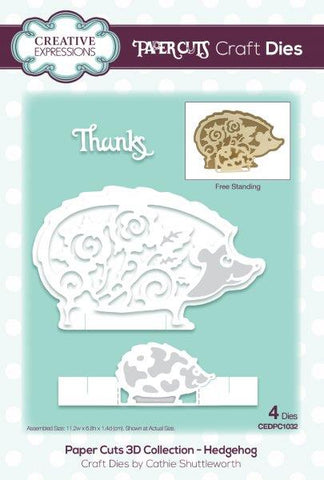 Hedgehog Paper Cuts 3D Collection Craft Dies By Cathie Shuttleworth Creative Expressions CEDPC1032