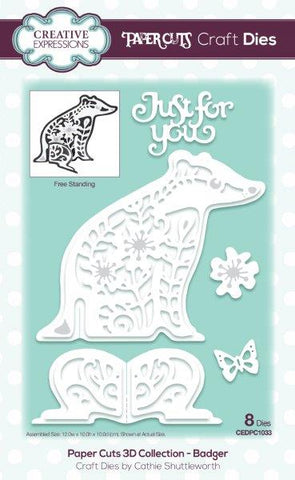Paper Cuts 3D Collection - Badger CEDPC1033 Craft Die By Cathie Shuttleworth For Creative Expressions