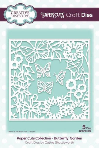 Butterfly Garden Paper Cuts Collection Die By Cathie Shuttleworth Creative Expressions CEDPC1034