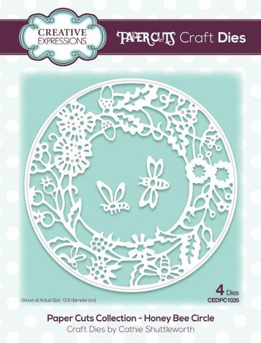 Paper Cuts Collection - Honey Bee Circle CEDPC1035 Craft Die By Cathie Shuttleworth Creative Expressions
