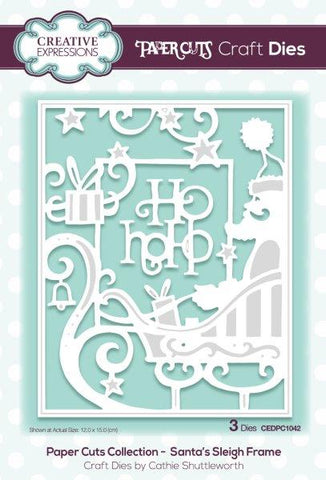 Santa's Sleigh Frame Paper Cuts Collection Craft Dies By Cathie Shuttleworth Creative Expressions CEDPC1042