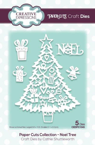 Paper Cuts Collection Noel Tree CEDPC1045 Craft Die By Cathie Shuttleworth Creative Expressions