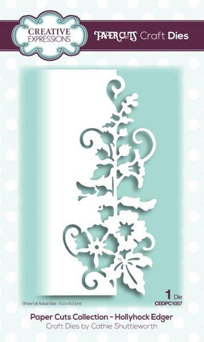 Hollyhock Edger Paper Cuts Collection Die By Cathie Shuttleworth Creative Expressions CEDPC1057