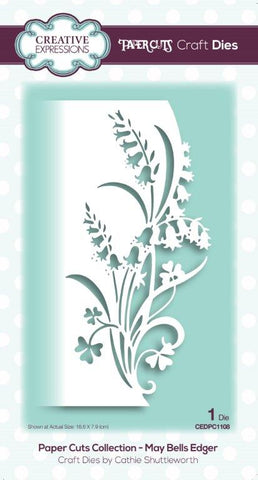 May Bells Edger Paper Cuts Collection Die By Cathie Shuttleworth Creative Expressions CEDPC1108