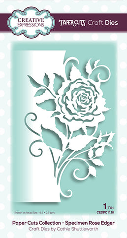Specimen Rose Edger Paper Cuts Collection Die By Cathie Shuttleworth Creative Expressions CEDPC1120