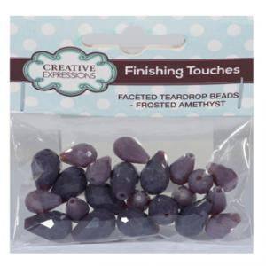Faceted Teardrop Beads Frosted Amethyst By Creative Expressions