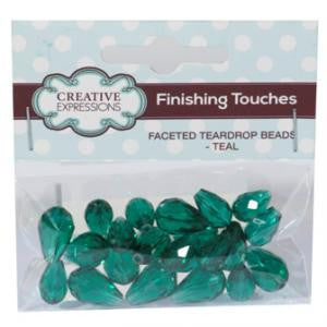 Faceted Teardrop Beads Teal By Creative Expressions
